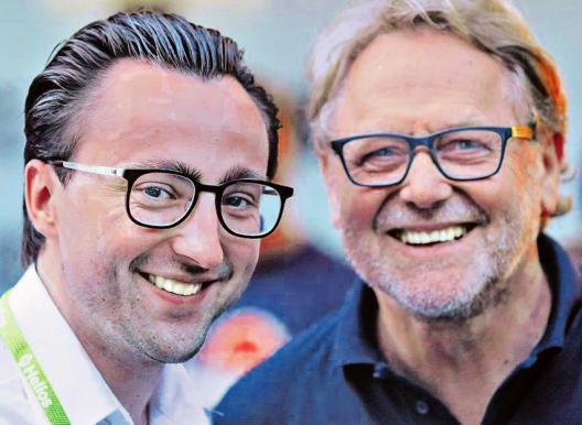"""Tobias Stümges (l.) und Christian A. Kölker, Veranstalter von """"Retour le Tour"""""""