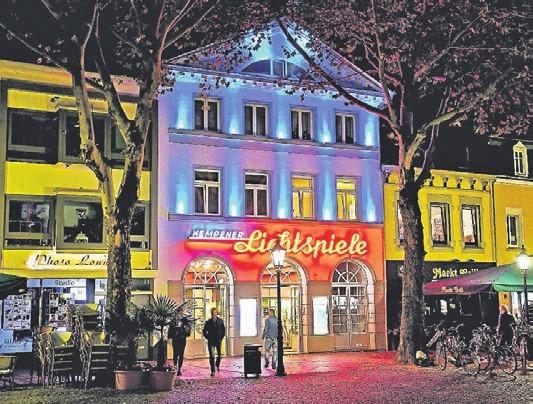Ein Lichtspielhaus mit Tradition: das Kino der Familie Janssen am Buttermarkt.