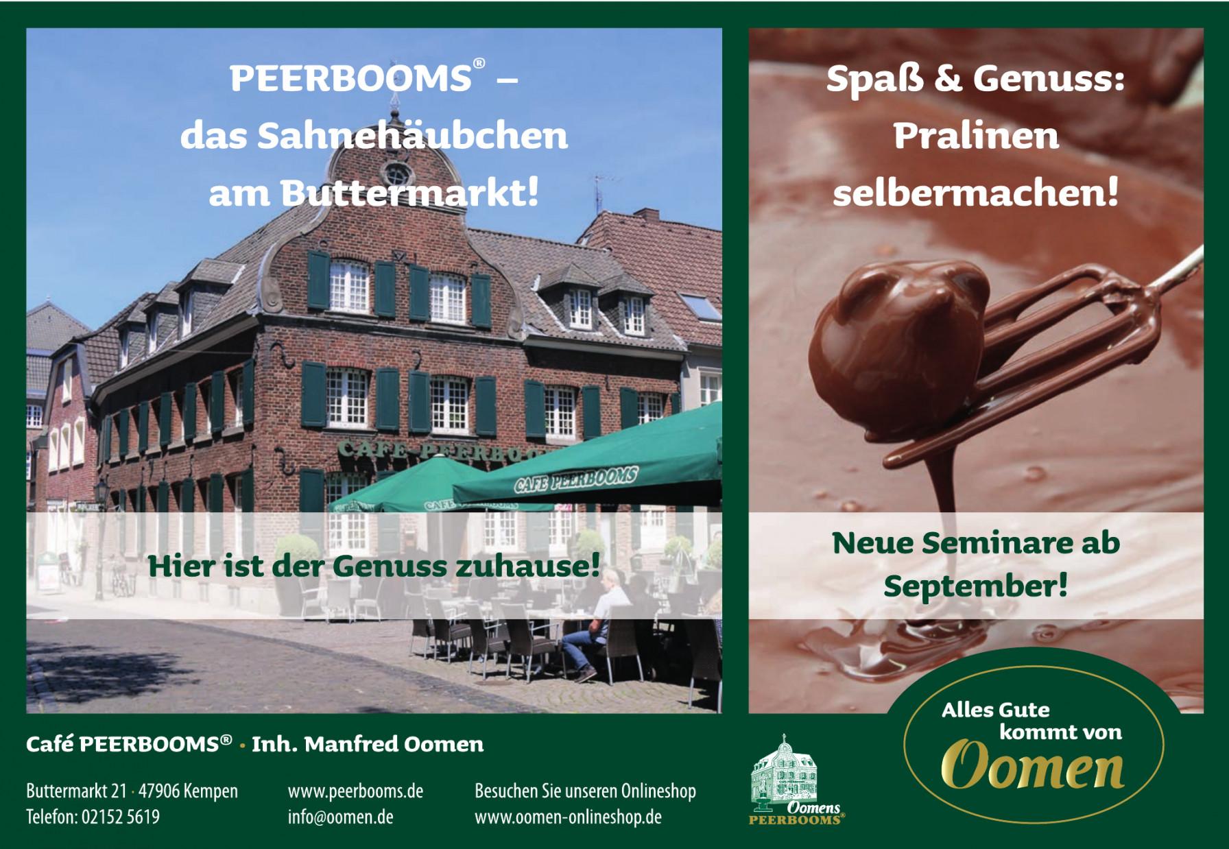 Oomen Café Peerbooms