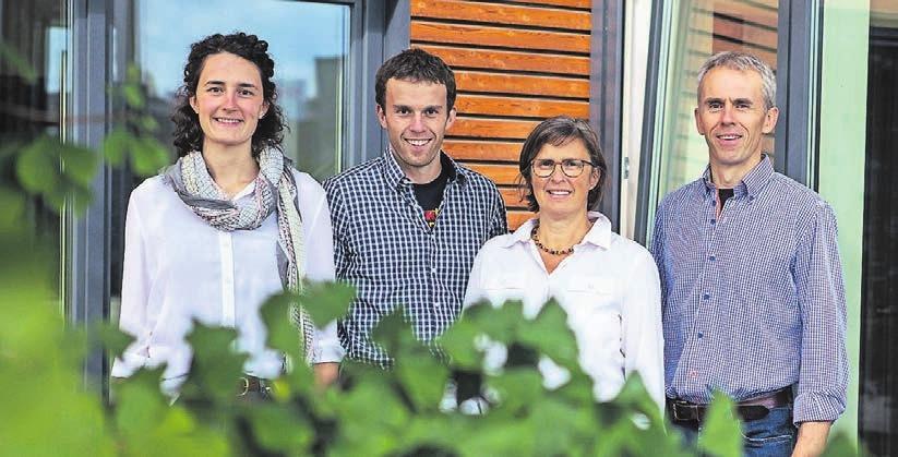 Die Familie ist vom Fach: Simone, Christian, Evi und Hans Schleupen (v.l.).