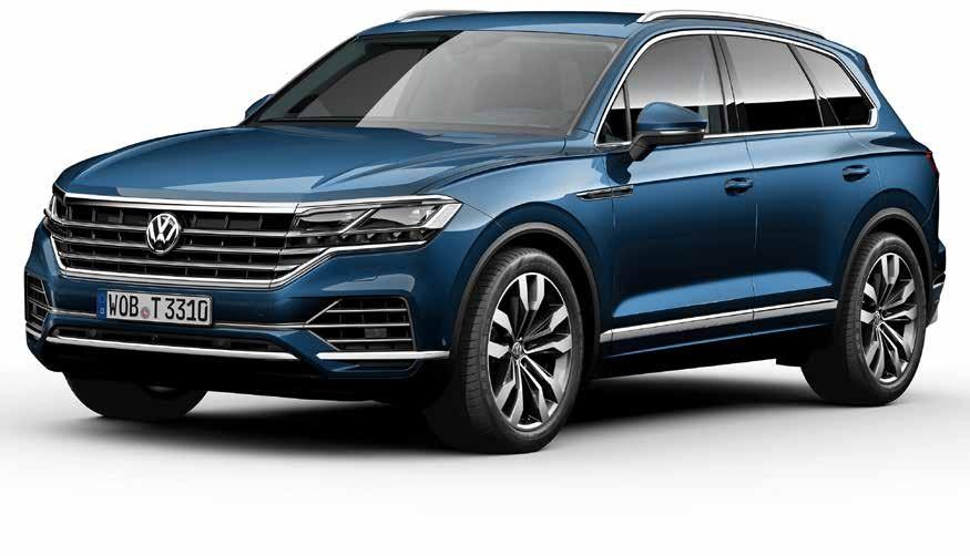 Der neue Touareg belegt einen Spitzenplatz im Oberklasse-SUV-Segment.