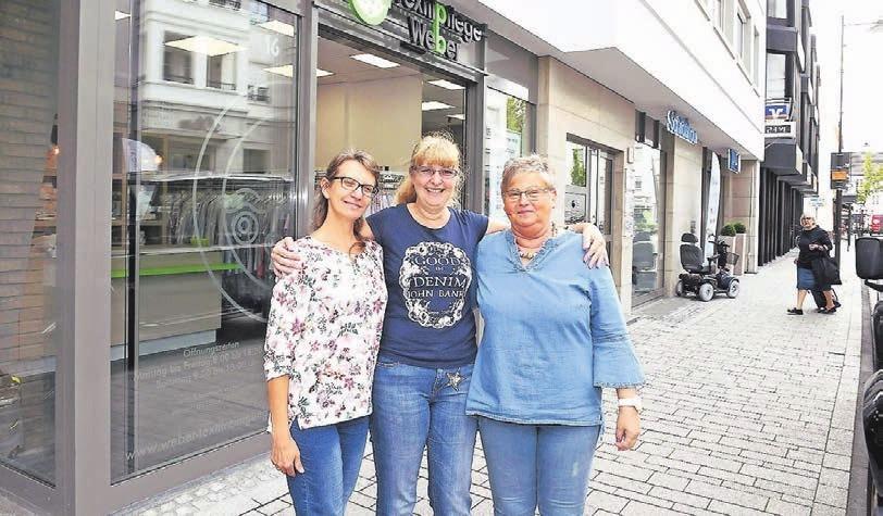 Die drei Damen von der Textilpflege Weber im Klosterhof (v.l.): Elena Brittner, Susanne Schmitz und Gabriele Klimkeit.