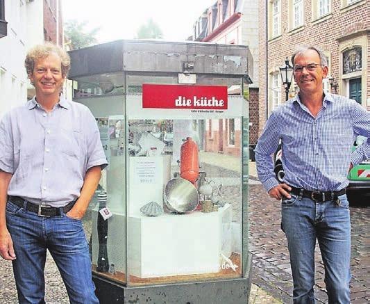 Klaus Keller (l.) und Richard Schwalbe gefällt es an der Kuhstraße mehr als nur gut.